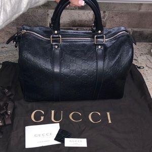 Black Leather Gucci Boston